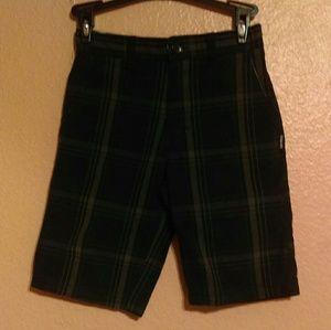 Zoo York black plaid shorts
